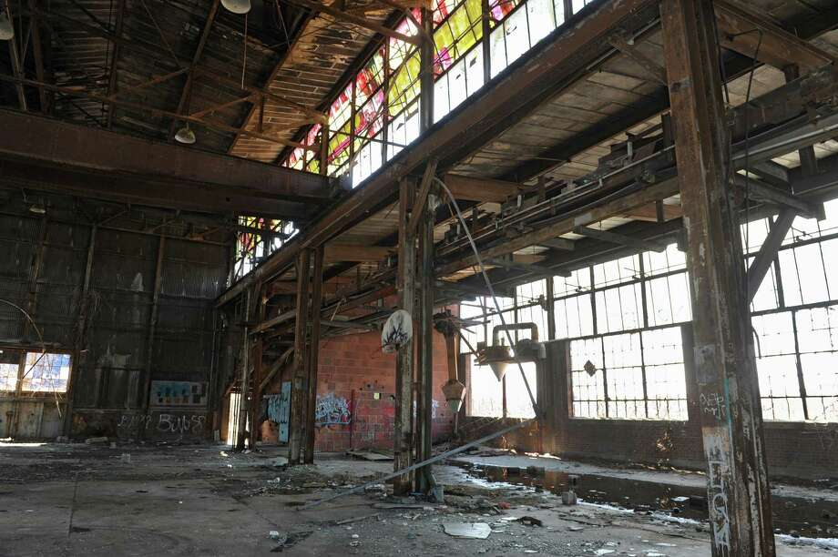 Vacant building on waterfront at end of Madison Street Monday, March 31, 2014 in Troy, N.Y.  (Lori Van Buren / Times Union) Photo: Lori Van Buren / 00026319A