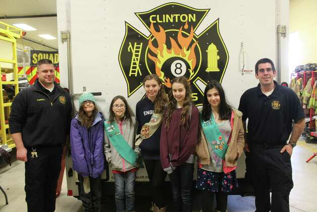 Girl Scout Troop 1158 members visited Station II of the Clinton Heights Fire Department in March as part of their effort toward earning their first aid badge. Along with their leaders and mothers, the scouts were given a review of the first responder equipment found on vehicle Squad 8. Lt. Patrick Knapeck, an emergency medical technician explained CPR techniques and equipment. Lt. Chad Farrell reviewed the automatic external defibrillator (AED). Several scouts knew that AEDs were located in their schools and other public gathering places such as the Malls. Lt. Farrell also took the time to give the guests a tour of the trailer that holds the swift water, confined space and rope repelling equipment. Following the formal tour, the girls while enjoying some refreshments were treated to an actual alarm drop. They were able to see in action CHFD firefighters responding to the call. A word was put in by the lieutenants that the girls when of age should give serious consideration to become firefighters themselves. (Ed Pratt)