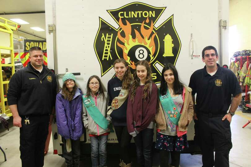 Girl Scout Troop 1158 members visited Station II of the Clinton Heights Fire Department in March as