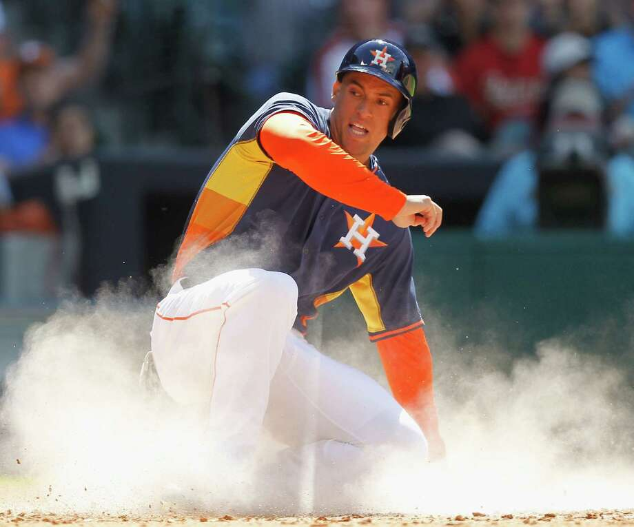 Although George Springer will start the season in the minors, the Astros expect big things from him after his combined 37 homers, 108 RBIs and 45 steals in Double-A and Triple-A last year. Photo: Bob Levey / Associated Press / FR156786 AP
