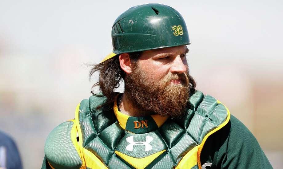 Derek Norriscatcher, Oakland Athletics Photo: Michael Zagaris, Getty Images / 2014 Michael Zagaris