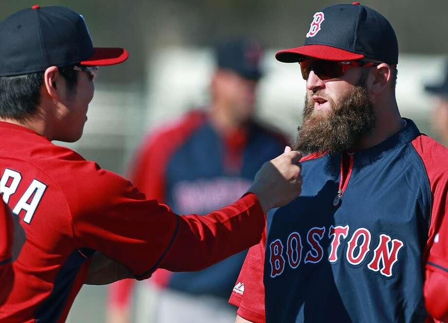 Mike Napolifirst baseman, Boston Red Sox Photo: Boston Globe, Boston Globe Via Getty Images