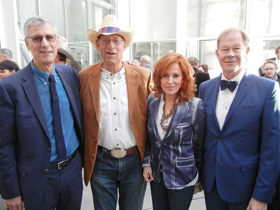CCA President Stephen Beal (left) with architect Art Gensler and gala co-chairs Brenda and George Jewett. Photo: Catherine Bigelow, Special To The Chronicle