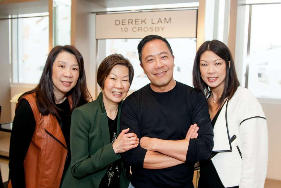 San Francisco-born designer Derek Lam with (l-r) Terrina Yamamoto, Celine Lam and Tracy Lee. Photo: Tara Luz Stevens, Drew Altizer Photography