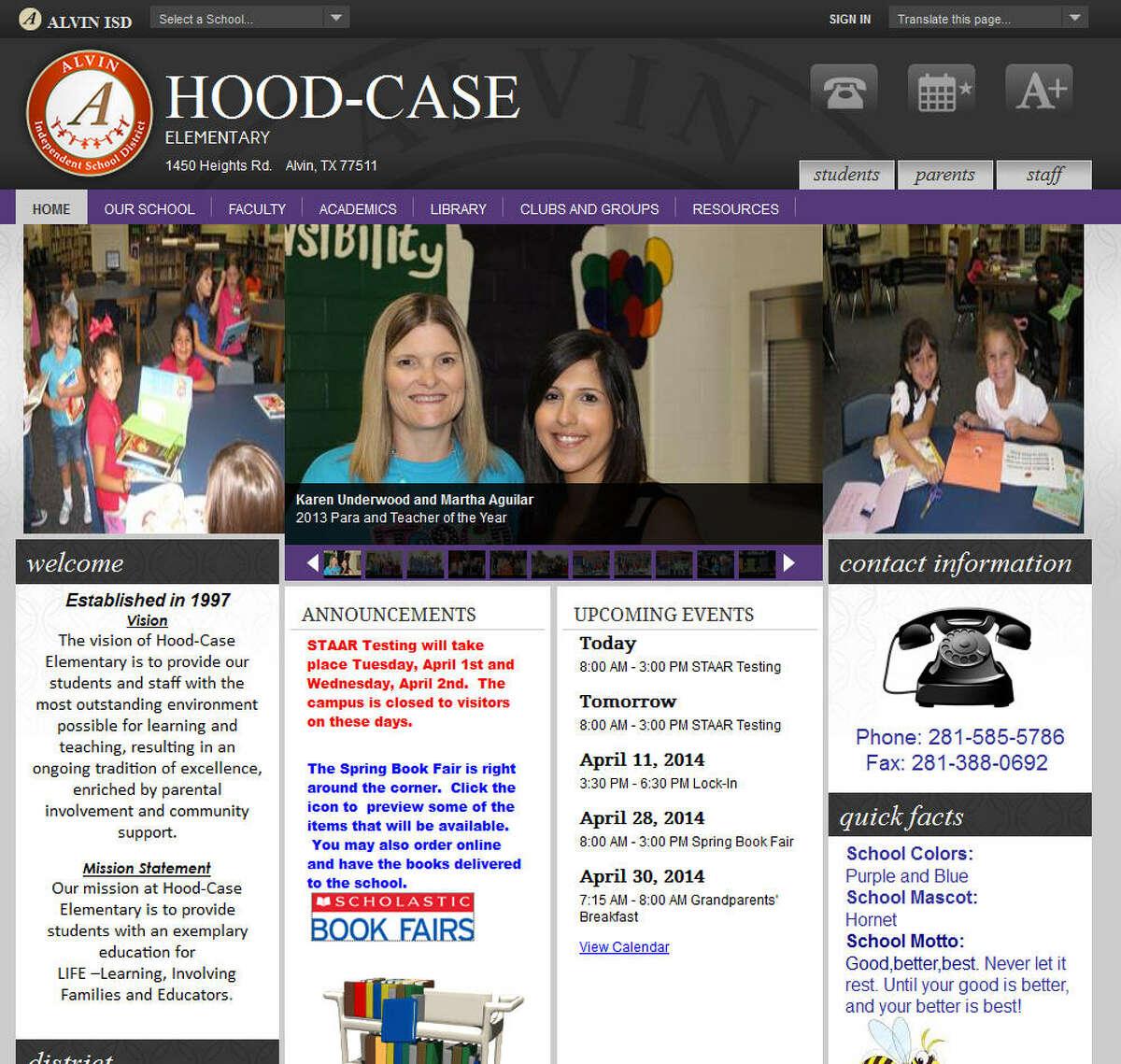 Alvin ISDHood-Case Elementary School Student: 774