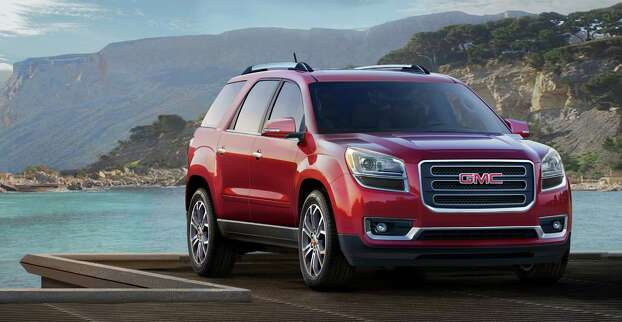 "GMC AcadiaModel year being recalled: 2008-13Number of vehicles being recalled: Part of 1.8 millionReason for recall: Possible airbag non-deploymentModel year being recalled: 2014Number of vehicles being recalled: Part of 355Reason for recall: Faulty transmission shift cable adjuster Photo: File / License Agreement - Please read the following important information pertaining to this image. This GM image is protected by copyright and is provided for use under a Creative Commons 3.0 License* for the purpose of editorial comment only. The use of this image for advertising, marketing, or any other commercial purposes is prohibited. This image can be cropped, but may not be altered in any other way, and each should bear the credit line ""© GM Co."" General Motors makes no representations with respect to the consent of those persons appearing in these photos, or with regard to the use of names, trademarks, trade dress, copyrighted designs or works of art or architecture that are not the intellectual property of General Motors.  *The applicable Creative Commons 3.0 License can be found at http://creativecommons.org/licenses/by-nc/3.0"