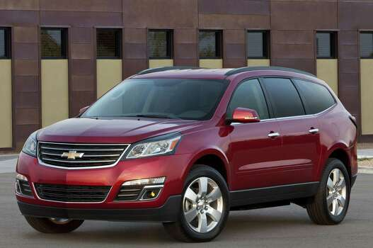 Chevrolet TraverseModel year being recalled: 2009-13Number of vehicles being recalled: Part of 1.8 millionReason for recall: Possible airbag non-deploymentModel year being recalled: 2014Number of vehicles being recalled: Part of 355Reason for recall: Faulty transmission shift cable adjuster Photo: General Motors Co.