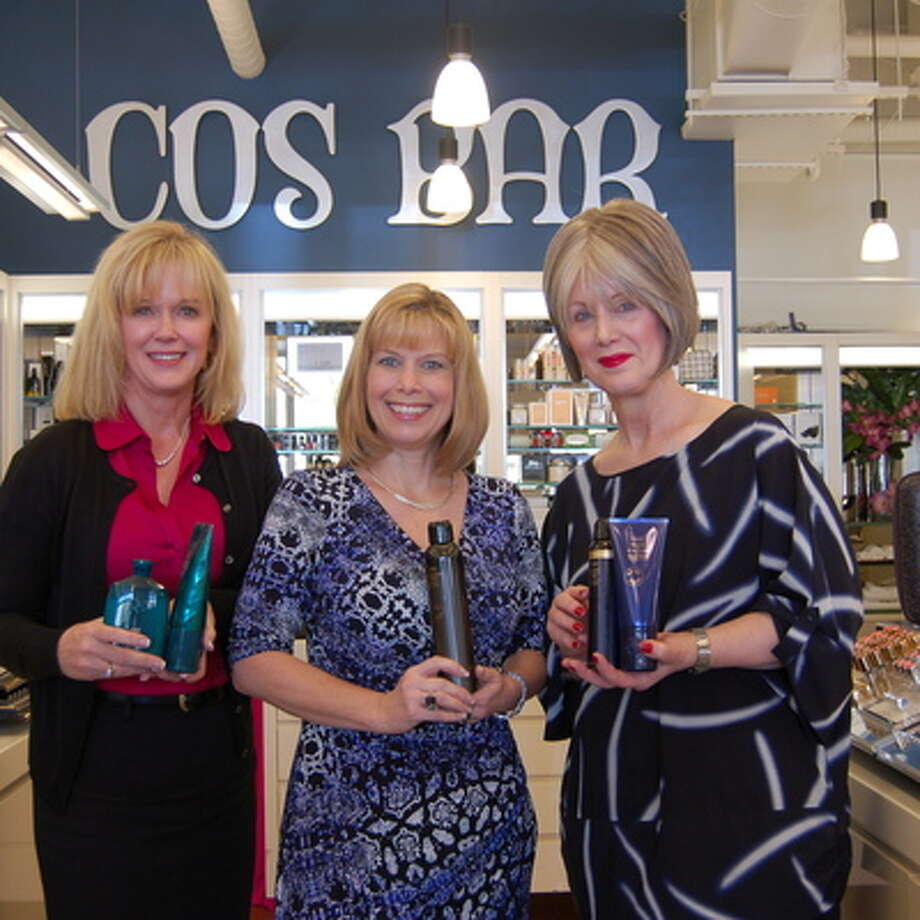 Cos Bar is collecting toiletry donations for the Montgomery County Women's Center. Pictured from left are: Sheryl Dudzik, MCWC director of development; Sarah Raleigh, MCWC president and CEO; and Colleen Clooney, manager of Cos Bar at Market Street.