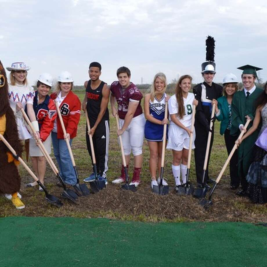 Students and staff from Clear Creek ISD schools attended the groundbreaking ceremony for the new Challenger Columbia Stadium. / ©CCISD-2014