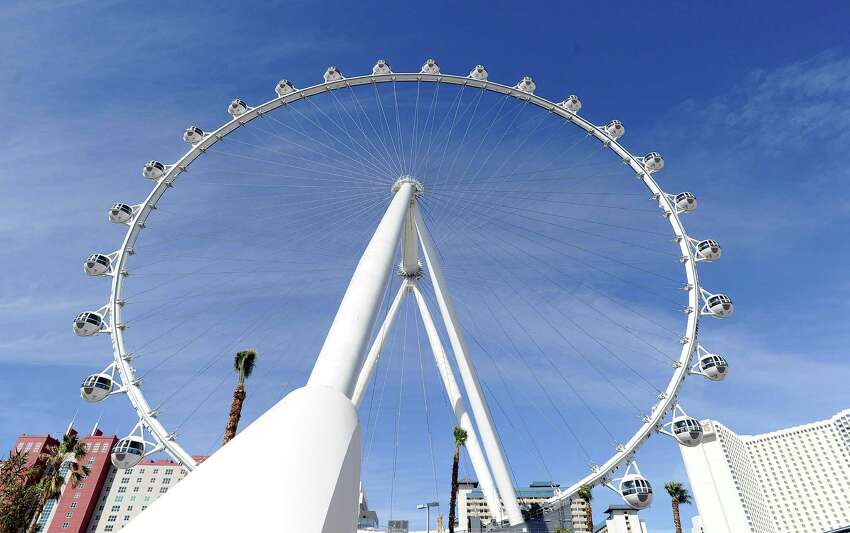 The Las Vegas High Roller at The LINQ is seen on Monday, March 31, 2014, in Las Vegas. The 550-foot-tall attraction, which opened to the public today, is the highest observation wheel in the world and features 28 cabins that can accommodate up to 40 people each.