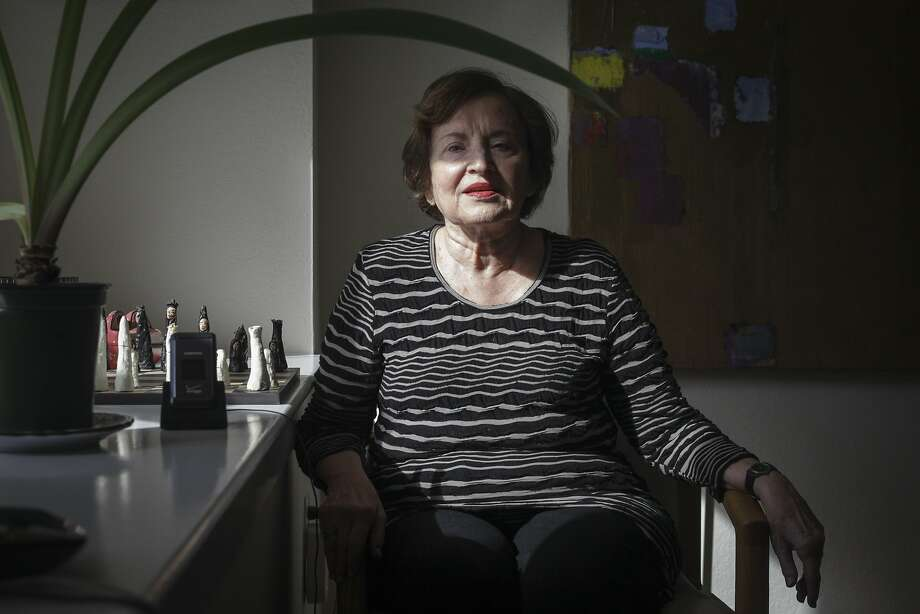 Hilda Brunwasser uses the Lively sensors that send information to her family about her daily activities. Photo: Sam Wolson, Special To The Chronicle