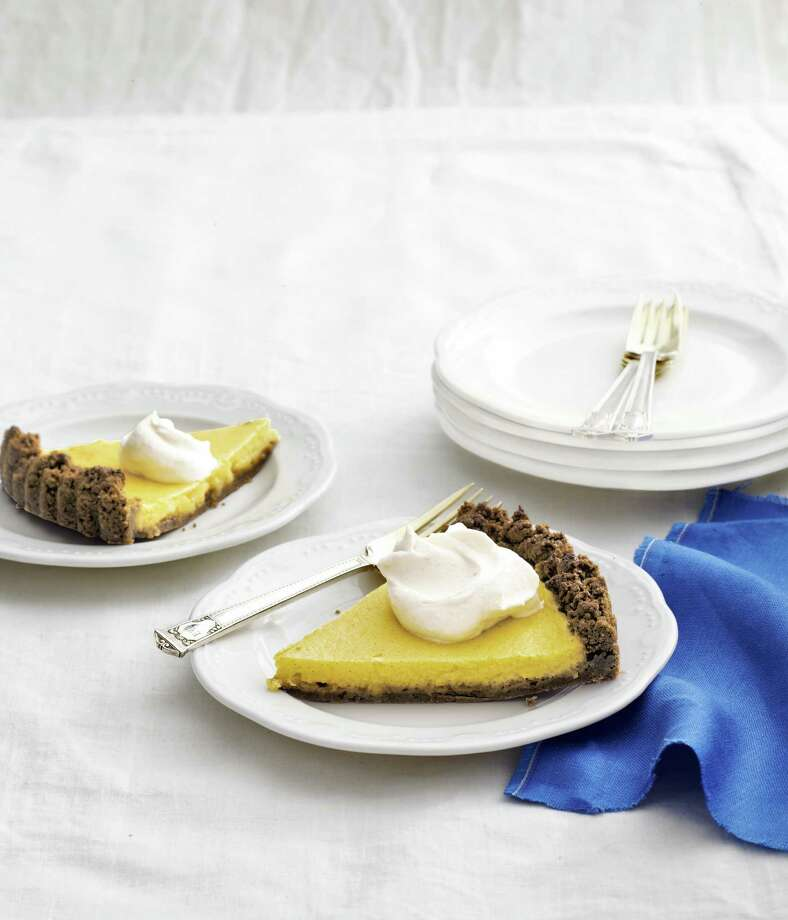 Meyer-Lemon Tart with Gingersnap Crust and Almond Whipped Cream, From Country Living. Photo: ANDREW PURCELL