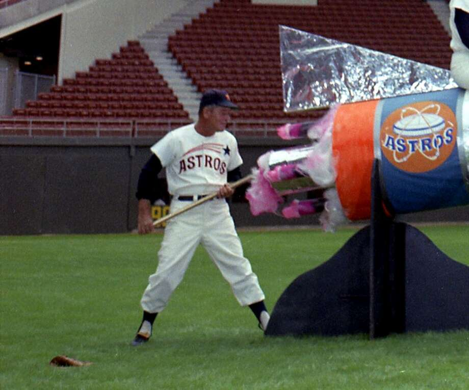 Astros Manager Luman Harris Photo: Owen Johnson, Houston Post