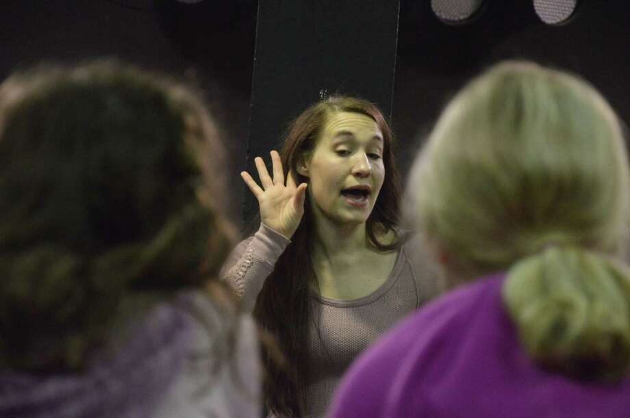 "Kristen Warren of Wildfish directs her students in the musical ""Seussical, Jr."" Photo: Jimmy Loyd / freelance"