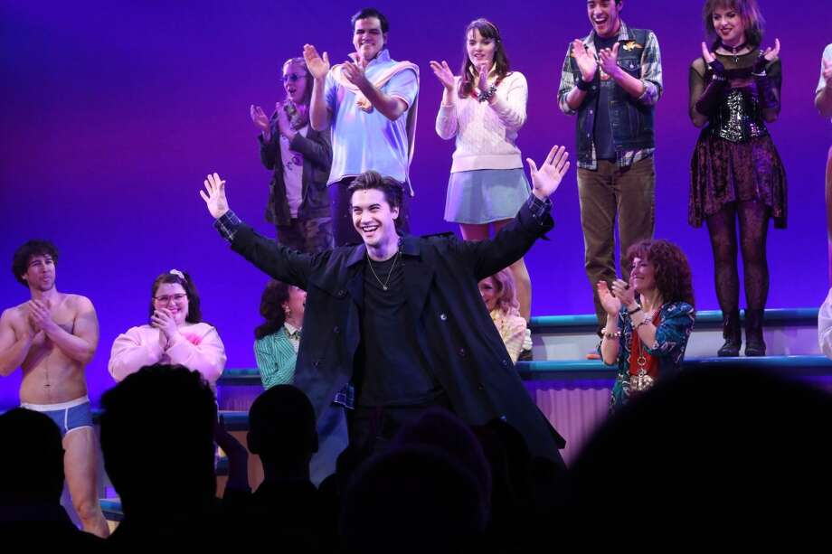"Ryan McCarten and cast attend curtain call at the off Broadway opening night of ""Heathers The Musical"" at New World Stages on March 31, 2014 in New York City. Photo: Rob Kim, Getty Images"