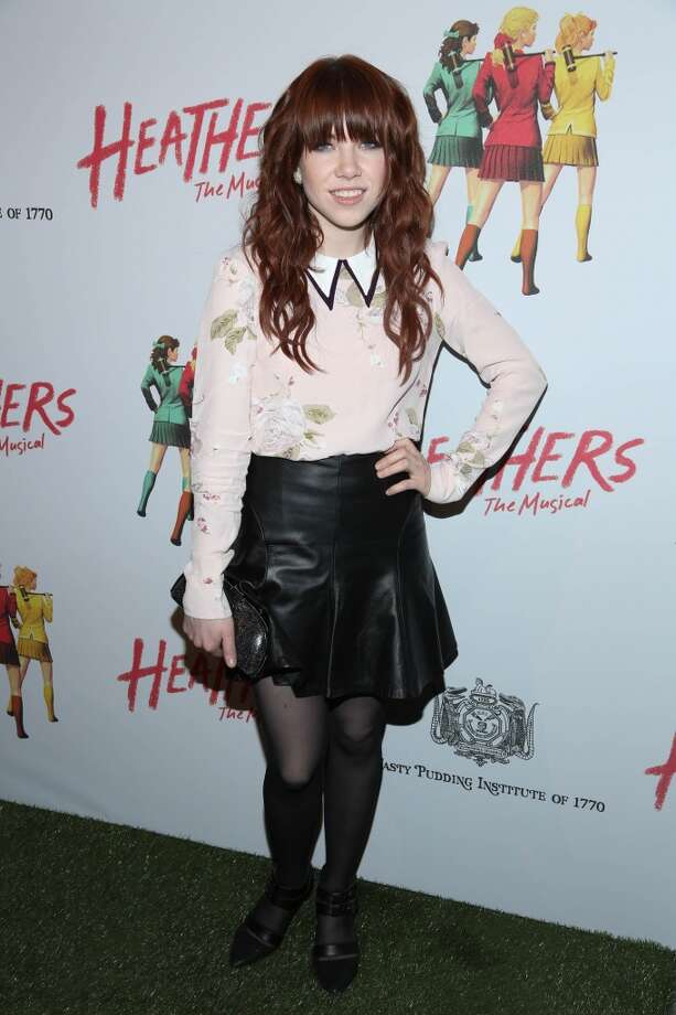 "Carly Rae Jepson attends the off Broadway opening night of ""Heathers The Musical"" at New World Stages on March 31, 2014 in New York City. Photo: Rob Kim, Getty Images"
