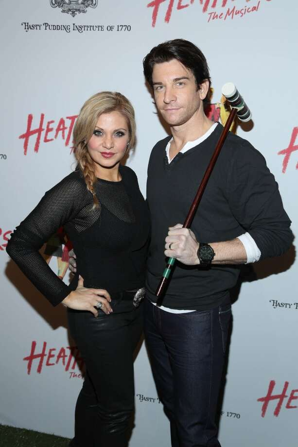 "Andy Karl (R) and guest attend the off Broadway opening night of ""Heathers The Musical"" at New World Stages on March 31, 2014 in New York City. Photo: Rob Kim, Getty Images"
