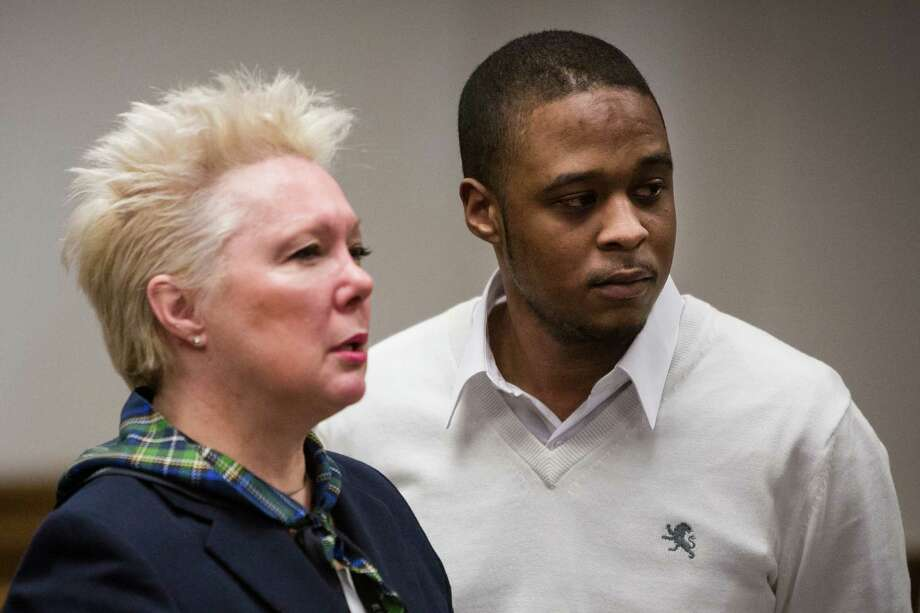 Larry Dawson Daley, Jr., right, is pictured in King County Superior Court shortly after he was convicted on four assault counts in a November 2012 shooting outside at South Lake Union club. He was sentenced Friday to 65 years in prison.  Photo: JORDAN STEAD, SEATTLEPI.COM / SEATTLEPI.COM