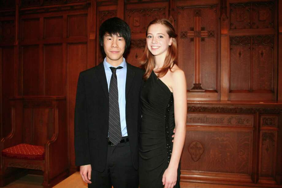 Kenneth Yu  and Kerrigan Quenemoen recently competed at the Music Teachers National Association Senior Piano Duet competition in Chicago. Photo: Tom Behrens