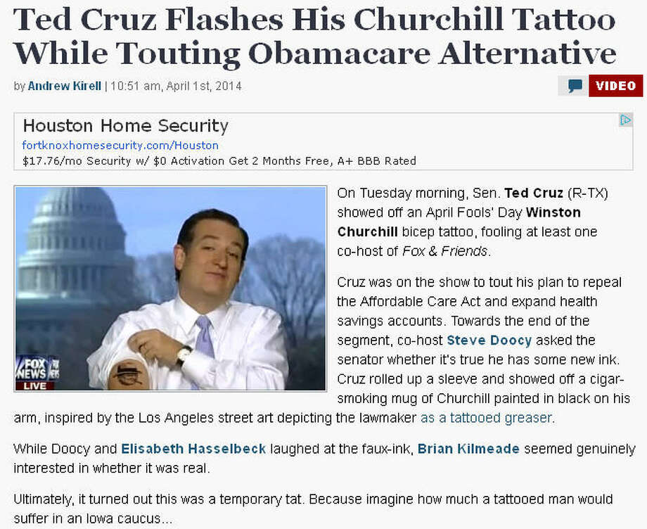 Secretly I hoped that Ted Cruz had all those tattoos. It would somehow explain everything.