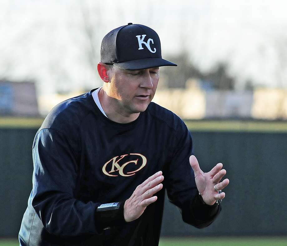 Klein Collins baseball head coach Chris Griffin during their scrimmage with Bellaire High School at Strake Jesuit Friday 2/14/14. Photo: Â Tony Bullard 2014, Freelance Photographer / © Tony Bullard & the Houston Chronicle