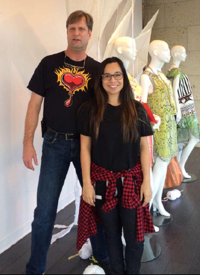 Michael Levermann and Samantha Plasencia are window designers at Julian Gold. Photo: Courtesy Photo / San Antonio Express-News