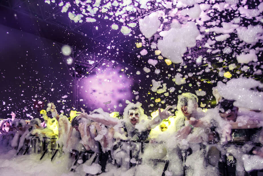"Foam party in BridgeportFoam N Glow, billed at the ""World's Largest Foam Party,"" pops off at Bridgeport's Webster Bank Arena on Friday. Find out more about the party.  Photo: Contributed Photo / Connecticut Post Contributed"