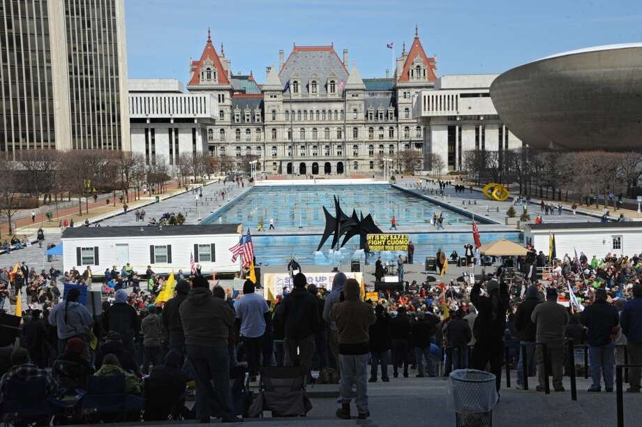 A newGallup Pollshows 41 percent of New York's residents would move if provided the opportunity. Scroll through for a look at the top 10 states residents want to flee, and then the 10 states where residents are most happy. Photo: Lori Van Buren, Albany Times Union