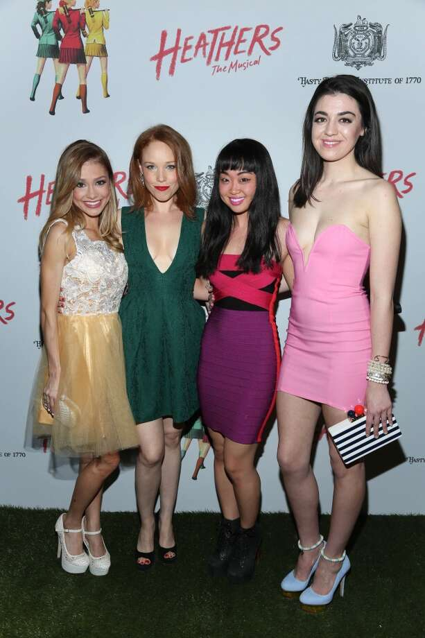 "Elle McLemore, Jessica Keenan Wynn, Alice Lee and Barrett Wilbert Weed attend the afterparty for off Broadway opening night of ""Heathers The Musical"" at John's Pizzeria on March 31, 2014 in New York City. Photo: Rob Kim, Getty Images"