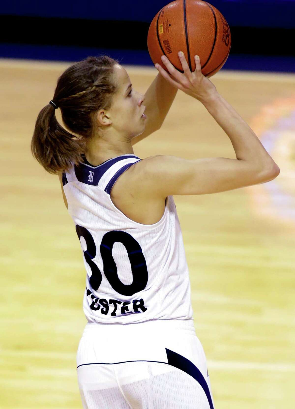 Jessica Kuster finished her college career as one of just 145 players in NCAA Division I history to record at least 2,000 career points and 1,000 career rebounds.