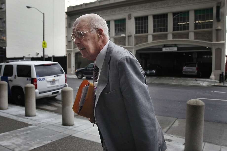 James Brosnahan, attorney for Keith Jackson, leaves the Federal Building and U.S. Courthouse in San Francisco. Photo: Lea Suzuki, The Chronicle
