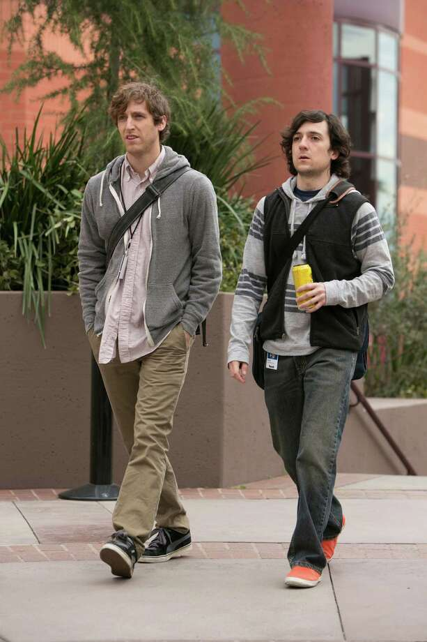 Thomas Middleditch and Josh Brener star as computer geeks on the verge of big bucks in 'Silicon Valley.' Photo: HBO / San Antonio Express-News