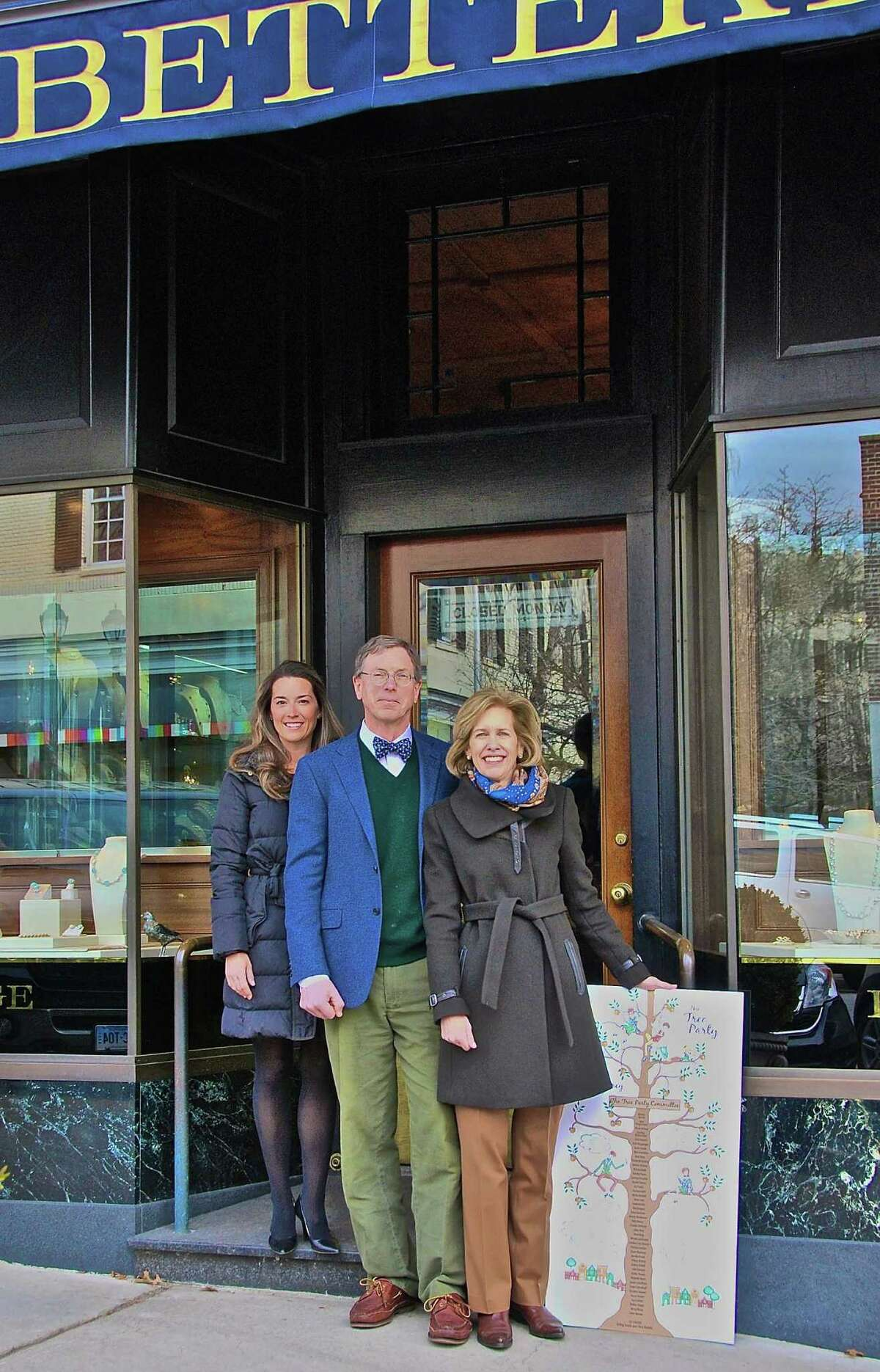 The Greenwich Tree Conservancy will hold its fourth annual Tree Party on Arbor Day, Friday, April 25 from 6:30 to 8:30 p.m. at McArdleâÄô Greenhouse on Arch St. in Greenwich. The event is open to the public. Pictured above, from left, are Ashley Allan, Co-Chairwoman of the Greenwich Tree ConservancyâÄôs Tree Party; Terry Betteridge of Betteridge Jeweler, a sponsor of the party; and Libby King, also a co-chairwoman. The GTCâÄôs mission is to preserve, maintain and enhance the trees and forest resources of Greenwich for the benefit of its citizens and also the wildlife that depends on those trees.