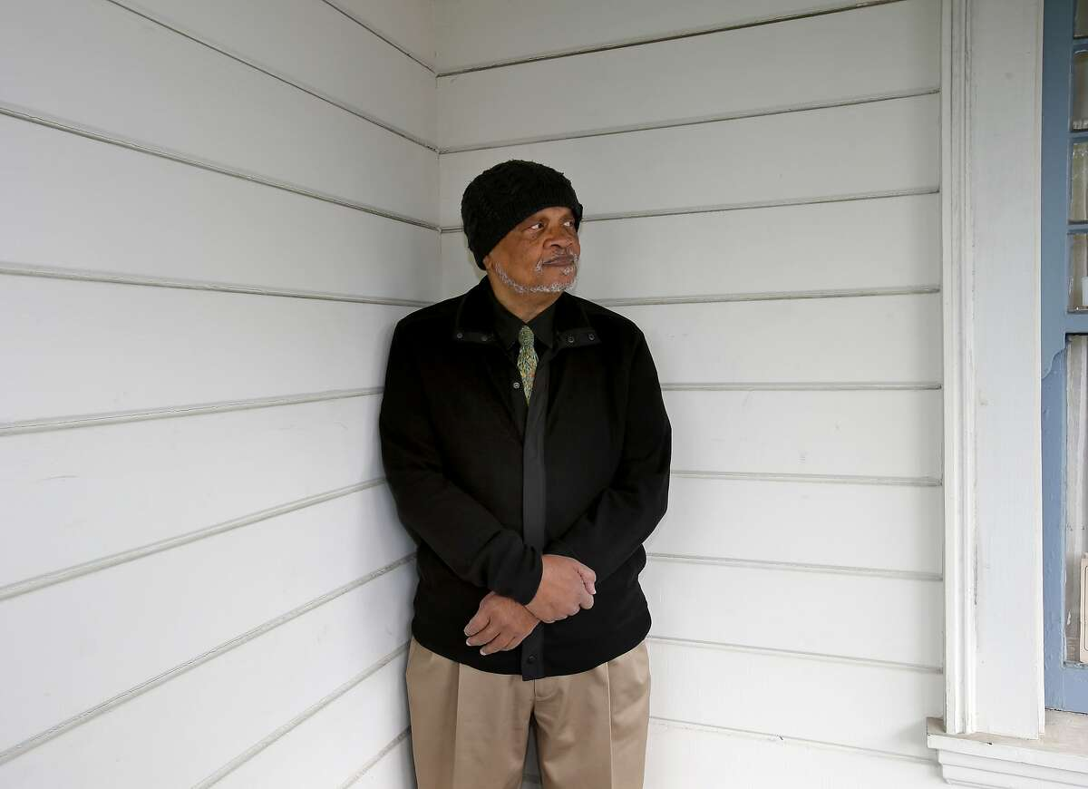 Ishmael Reed pauses outside his East Bay home Tuesday April 1, 2014 in Oakland, Calif. SFJAZZ Poet Laureate Ishmael Reed is heading a diverse group of poets for the first SFJAZZ Poetry festival.