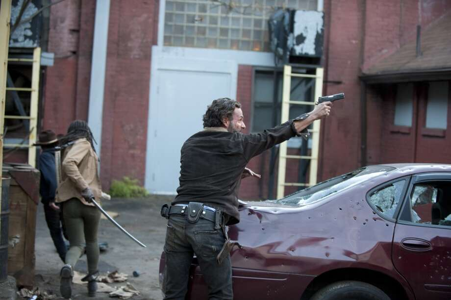 Rick Grimes (Andrew Lincoln) - The Walking Dead _ Season 4, Episode 16 - Photo Credit: Gene Page/AMC Photo: Gene Page/AMC