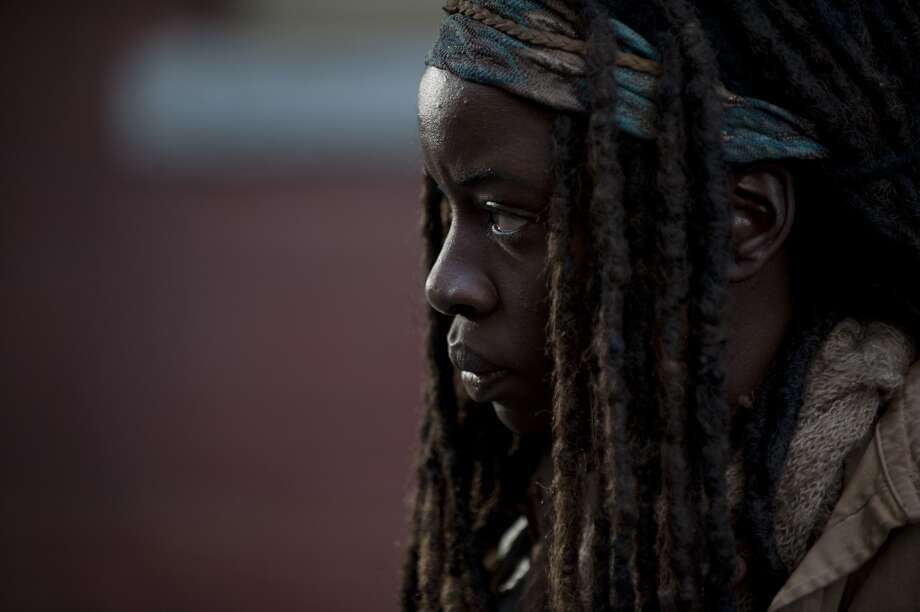 Michonne (Danai Gurira) - The Walking Dead _ Season 4, Episode 16 - Photo Credit: Gene Page/AMC Photo: Gene Page/AMC