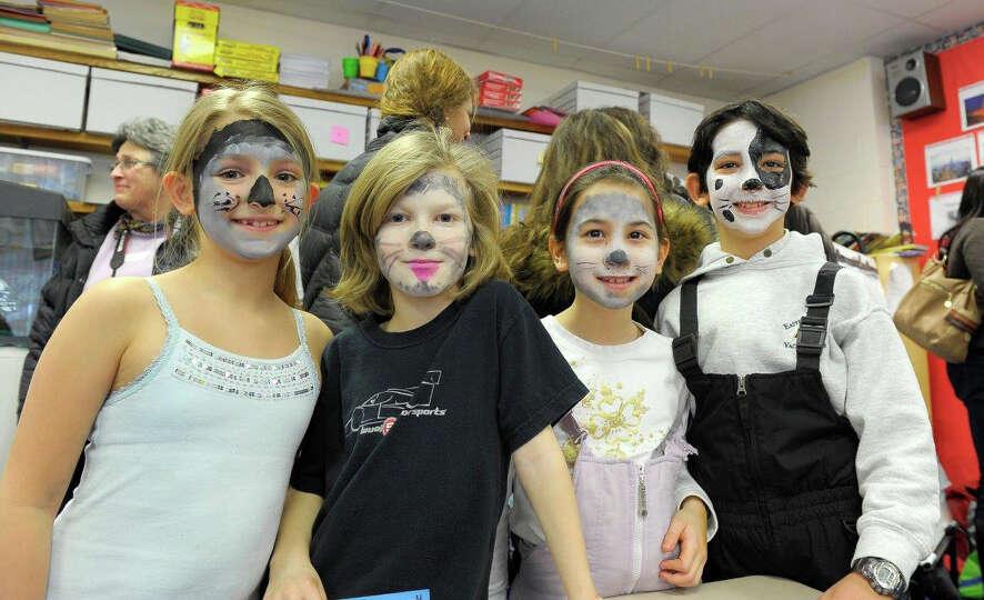 East Elementary School third-graders Sydney Lanxon, Sebastian McNeil, Lexi Hirai and Max Budnick dre