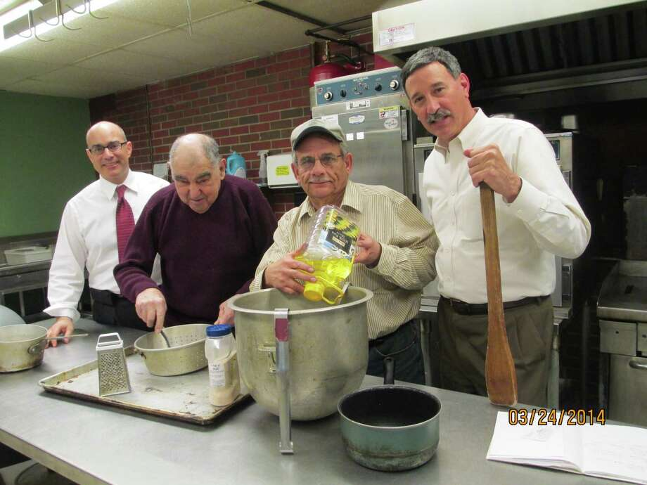 The Lansingburgh Rotary Club is preparing for the 49th annual spaghetti dinner to benefit Lansingburgh Boys & Girl's Club. It runs 5 to 7 p.m. Monday April 7 in the club Community Room. Take-outs only also available from 11:30 a.m. to 1:30 p.m. Shown from left are Mark Mainello, president of the Boys & Girls Club?s Board of Directors; Joe Manupella, club executive director, and board members and dinner chairmen Joe Spairana and Paul Tucci. (Submitted photo)