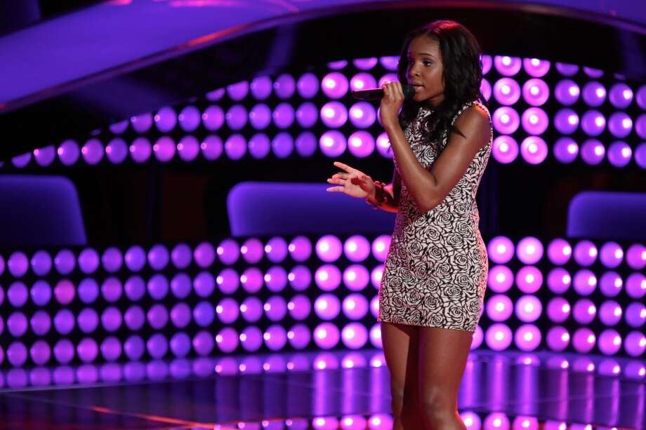 "Deja Hall competes on an episode of ""The Voice."" Photo: Tyler Golden, NBC"