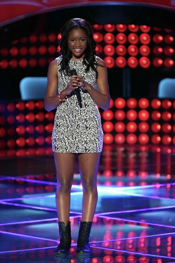 "Deja Hall competes on an episode of ""The Voice."" Photo: Tyler Golden, NBC / 2013 NBCUniversal Media, LLC"