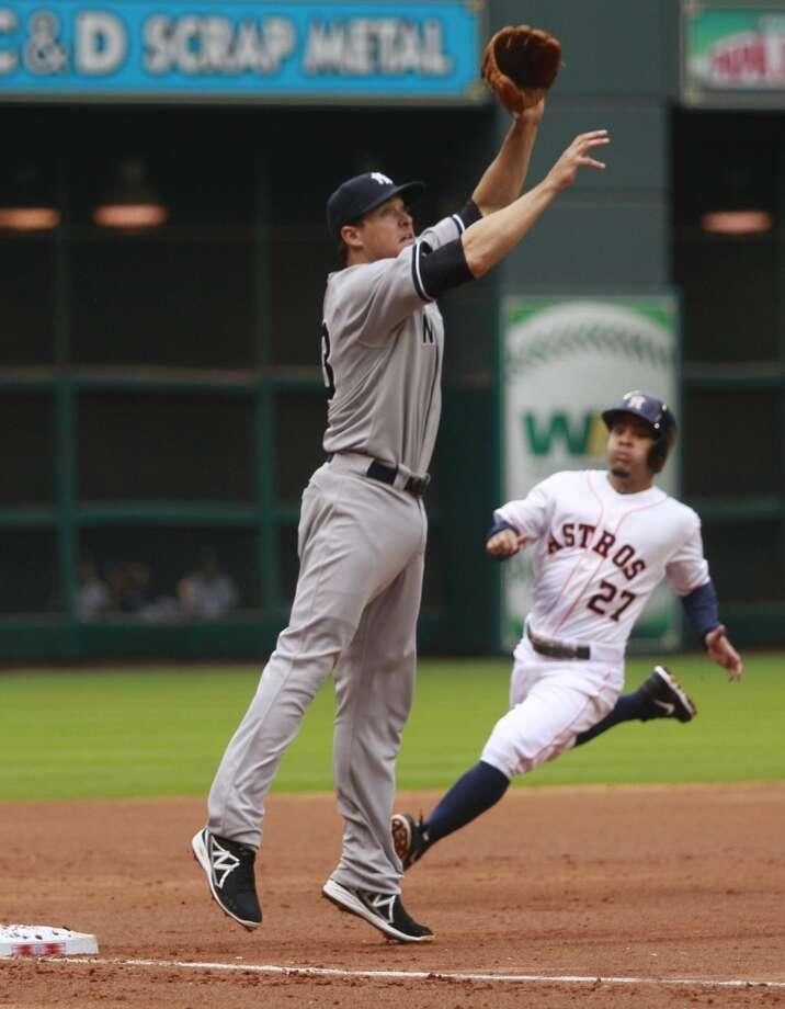Yankees third baseman Kelly Johnson Photo: Melissa Phillip, Houston Chronicle