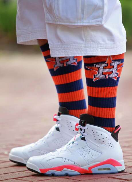 """Oh, these socks?"" you say casually. Photo: Melissa Phillip, Houston Chronicle / © 2014  Houston Chronicle"