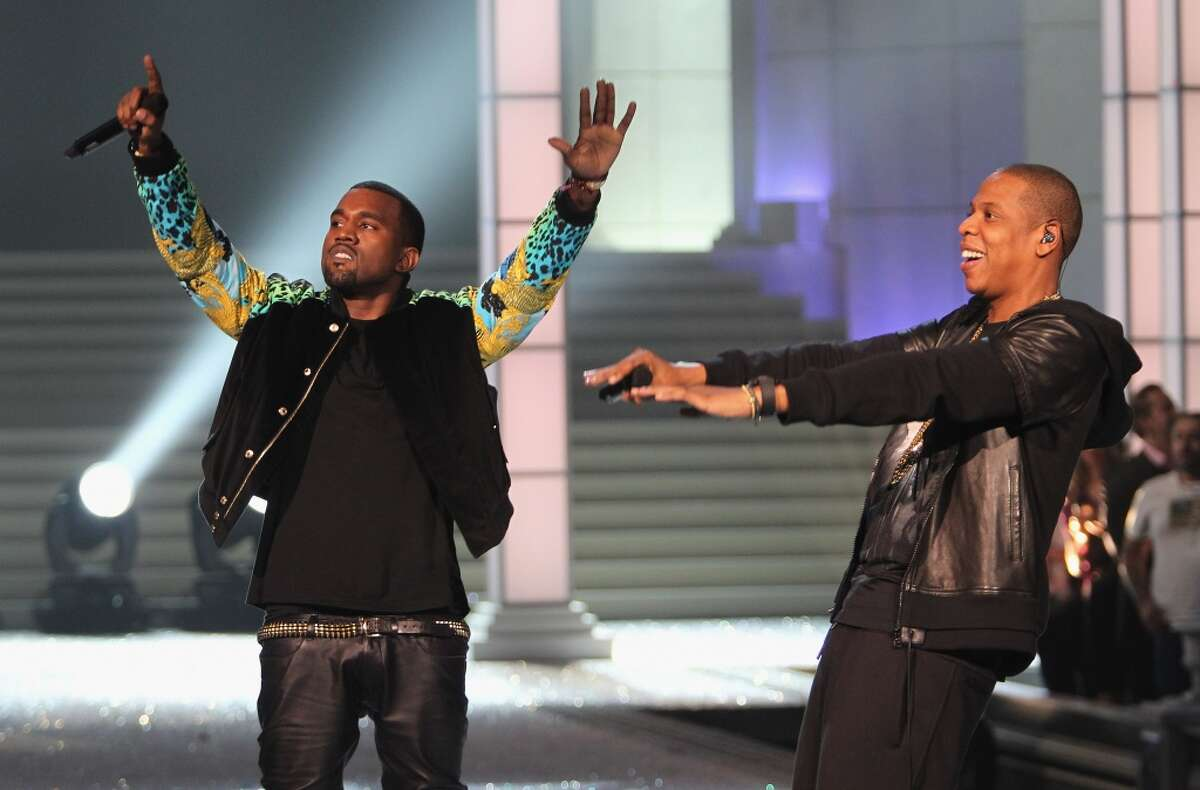 Rappers Kanye West and Jay-Z