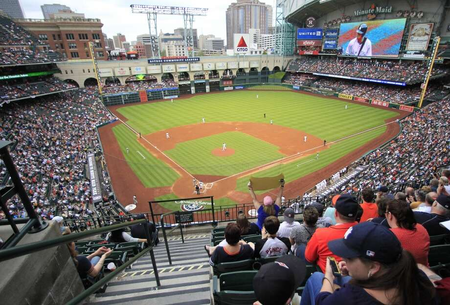 A look at Minute Maid Park during opening day. Photo: Karen Warren, Houston Chronicle