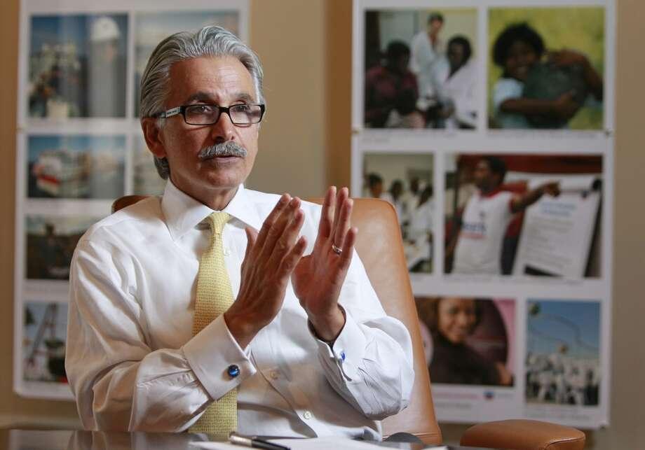 Ali Moshiri, Chevron's president of Africa and Latin America operations, speaks at Chervon's  Houston office. Photo: Melissa Phillip, Houston Chronicle