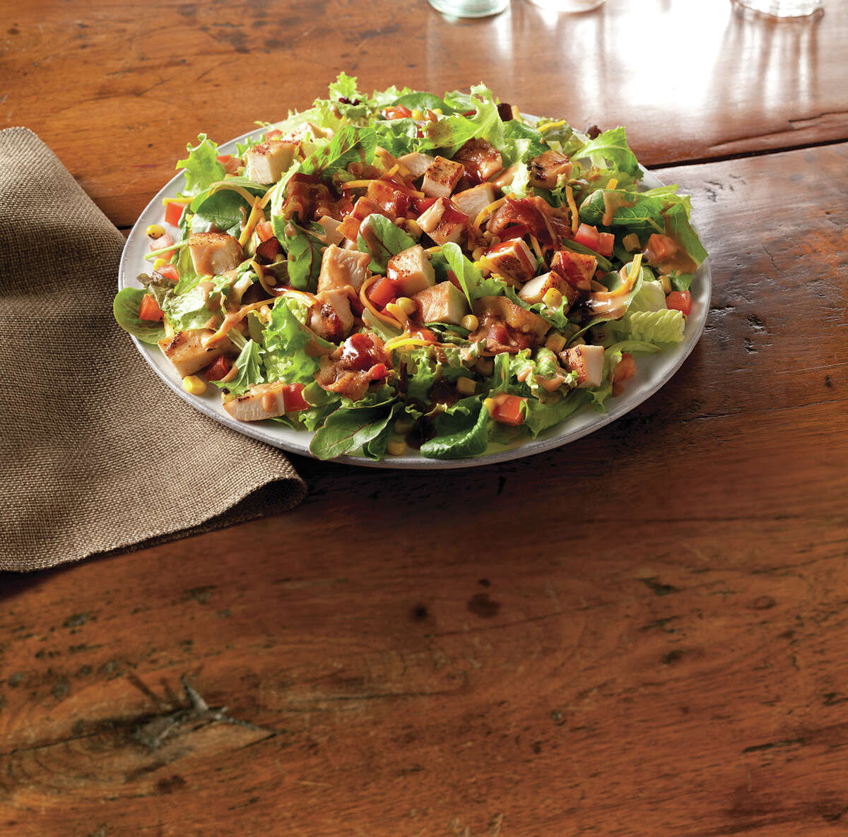 23. Wendy's BBQ Ranch Chicken Salad: What's that green stuff on the bottom? This works better once you toss the salad. As far as you can toss it. The chicken and ranch make magic together. (Click here to read the full review.)