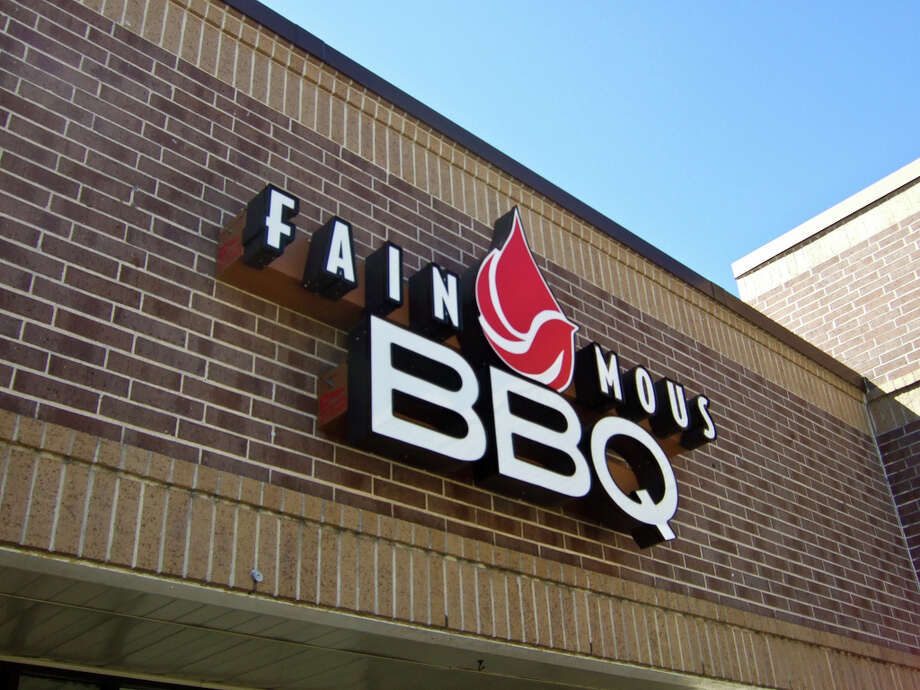 Signage for Fainmous BBQ on South Post Oak. Photo: J.C. Reid