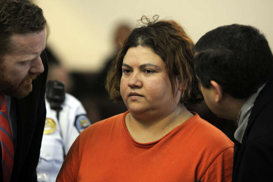 Rosa Chavarria-Medina appears in Superior Court, in Bridgeport, Conn. April 2, 2014. She is accused of causing a spectacular crash when she drove a car at a high rate of speed into a Cumberland Farms in Fairfield on March 24. Photo: Ned Gerard / Connecticut Post