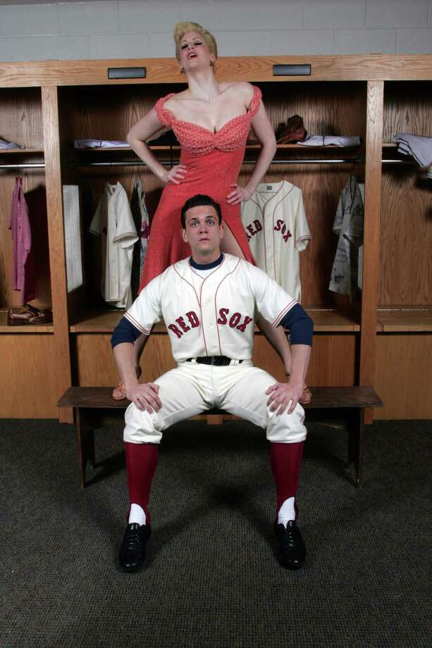 "Stephen Mark Lukas is Boston Red Sox player Joe Hardy and Angel Reda is the devilish temptress Lola in ""Damn Yankees"" at the Goodspeed Opera House April 11 to June 21. Photo: Contributed Photo, Contributed Photo / Connecticut Post Contributed"