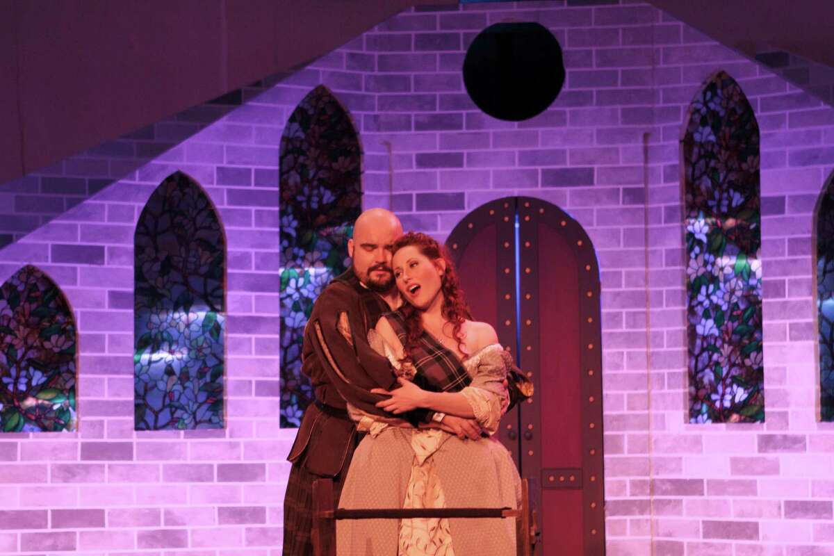 """Jessica Jones plays Lucia and Anthony Webb is Edgardo in Opera in the Heights' staging of Gaetano Donizetti's """"Lucia di Lammermoor."""""""